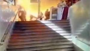25 kişinin öldüğü facia kamerada