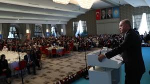 Recep Tayyip Erdoğan partililerle buluştu