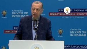 Erdoğan Eskişehir'de il danışma kurulunda konuştu