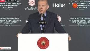 Erdoğan'dan tesis açılışı