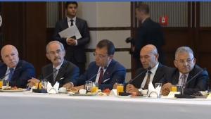 Başkanlar toplantısına katıldı