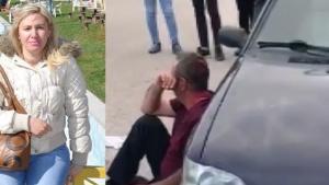 Eşine sokak ortasında satırla saldıran şahsı vatandaşlar linç etmek istedi