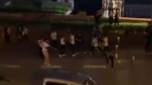 Bursa'da meydan kavgası kamerada