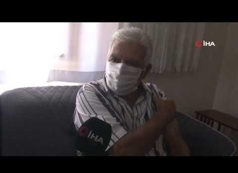 Hastaneye gitmekte güçlük çeken vatandaş evlerinde aşılanıyor