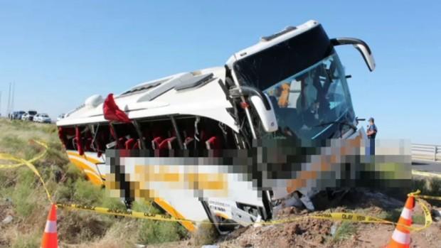 Otobüs kazasında yaralı sayısı 44'e yükseldi