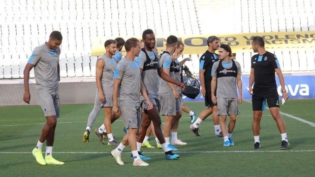 Trabzonspor antrenmanında Sturridge dansı