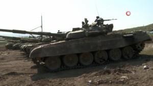 Ermenistan'dan ele geçirilen tanklar görüntülendi