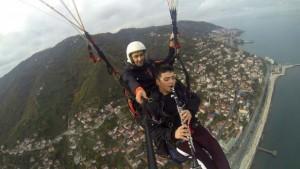 Gökyüzünde klarnetle Çanakkale Türküsü çaldılar