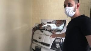 İstanbul'da dehşet anları: Kamyonet yatak odasına daldı
