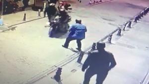 Kuyumcu kuryesine gasp girişimi; Kocasını gaspçılardan kurtardı