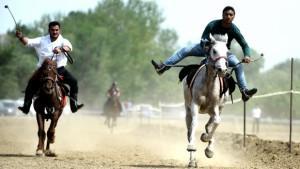 Rahvan atları kıyasıya yarıştı