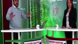 Televizyon kanalında canlı yayında deprem