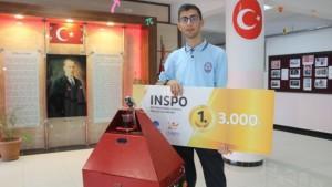 Türk öğrencinin robotu 386 proje arasında birinci oldu
